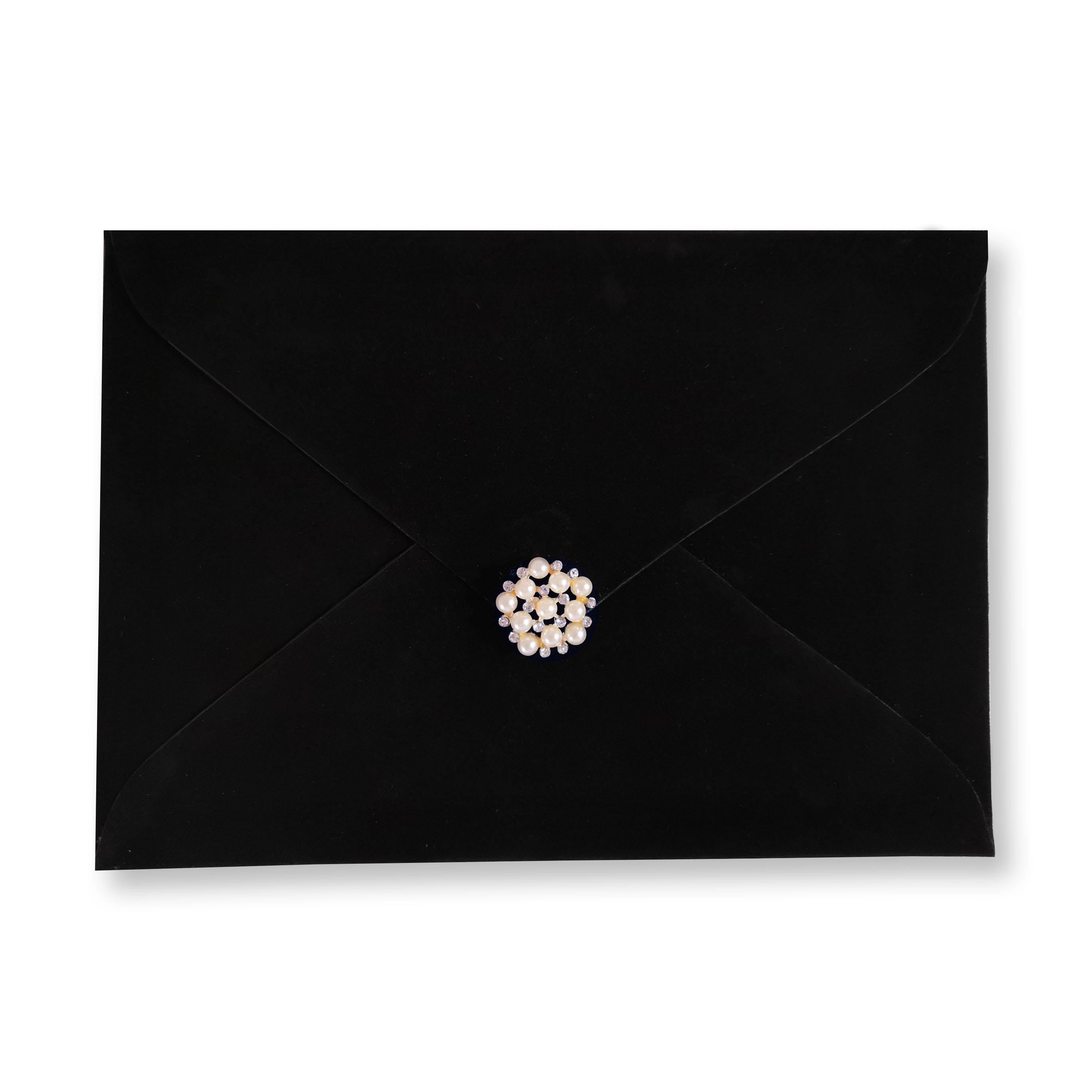 Black velvet envelope