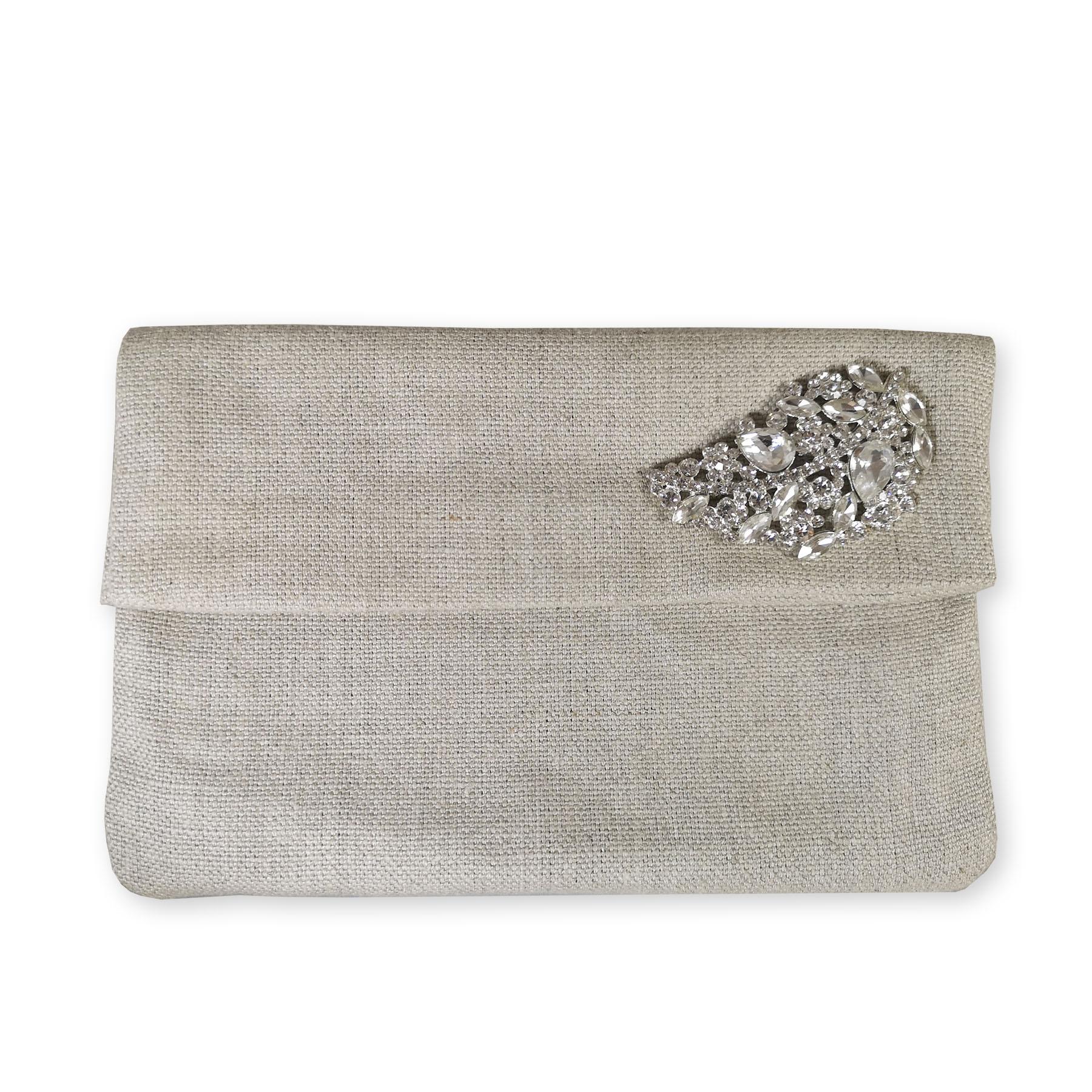 Linen clutch envelope