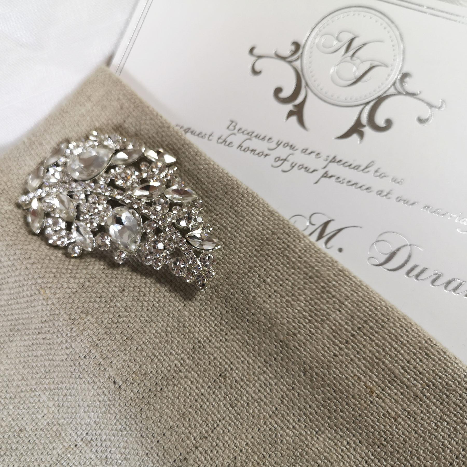 Luxury linen invitations