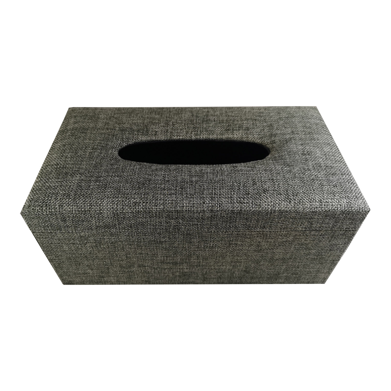Grey linen tissue box