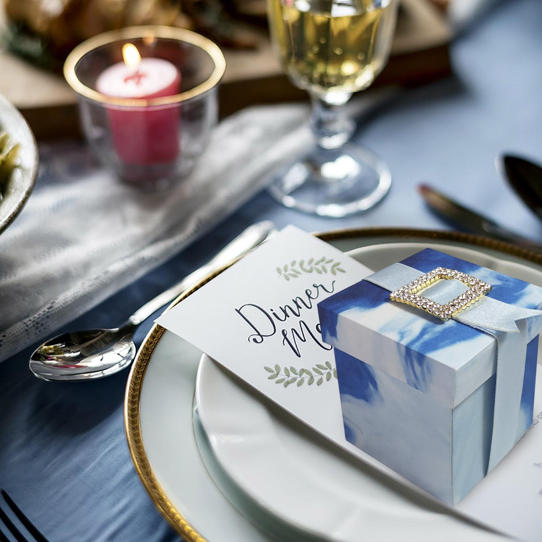 Elegant custom printed paper gift box