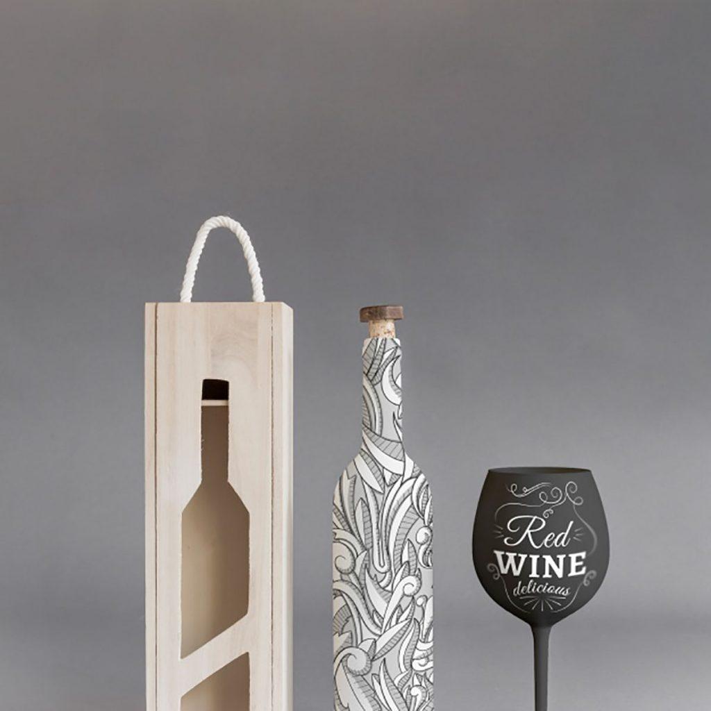 luxury wine bottle box