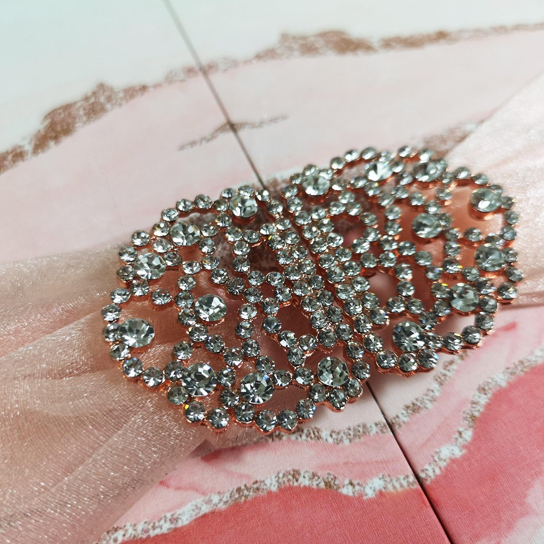 rose-gold wedding brooch
