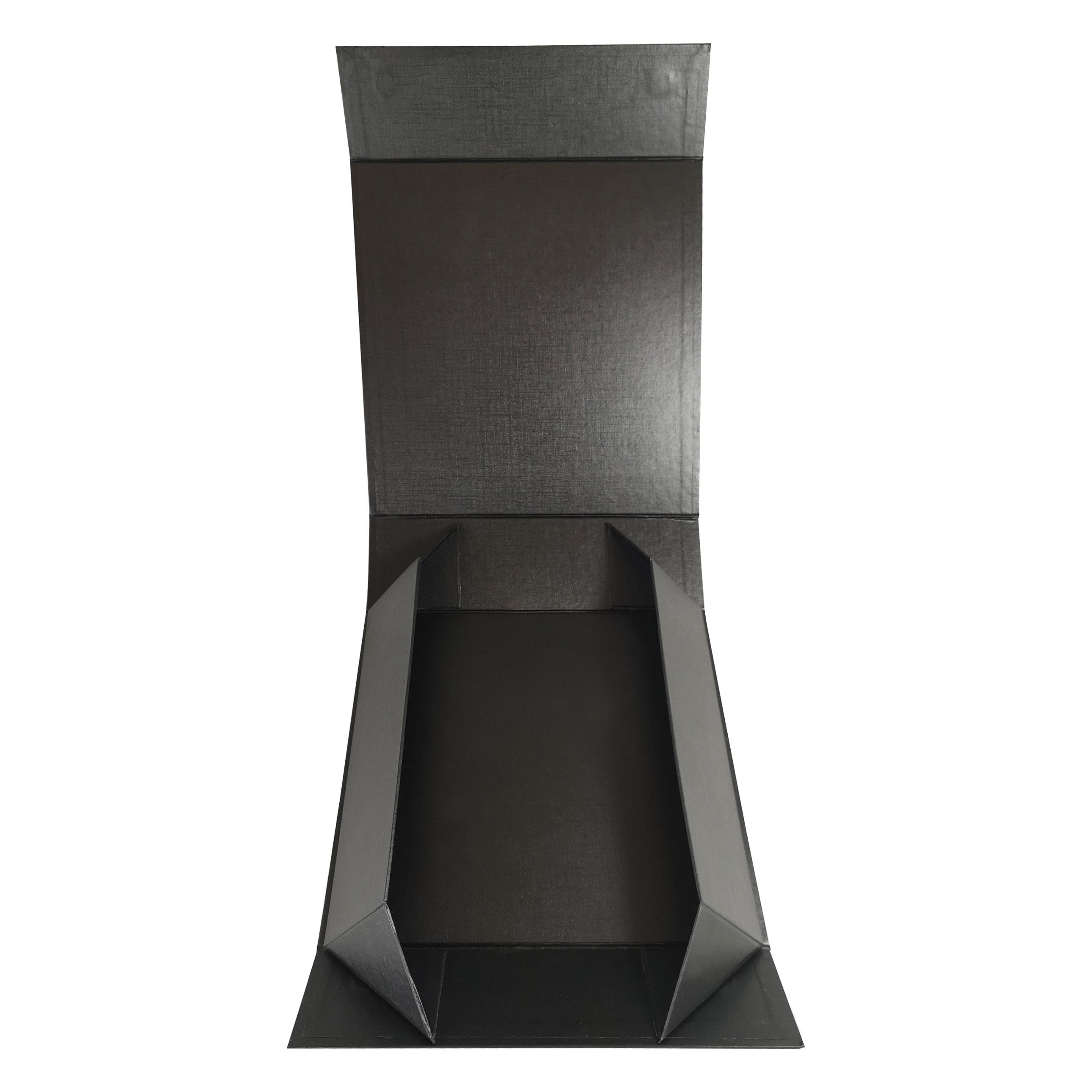 Black paper folding box