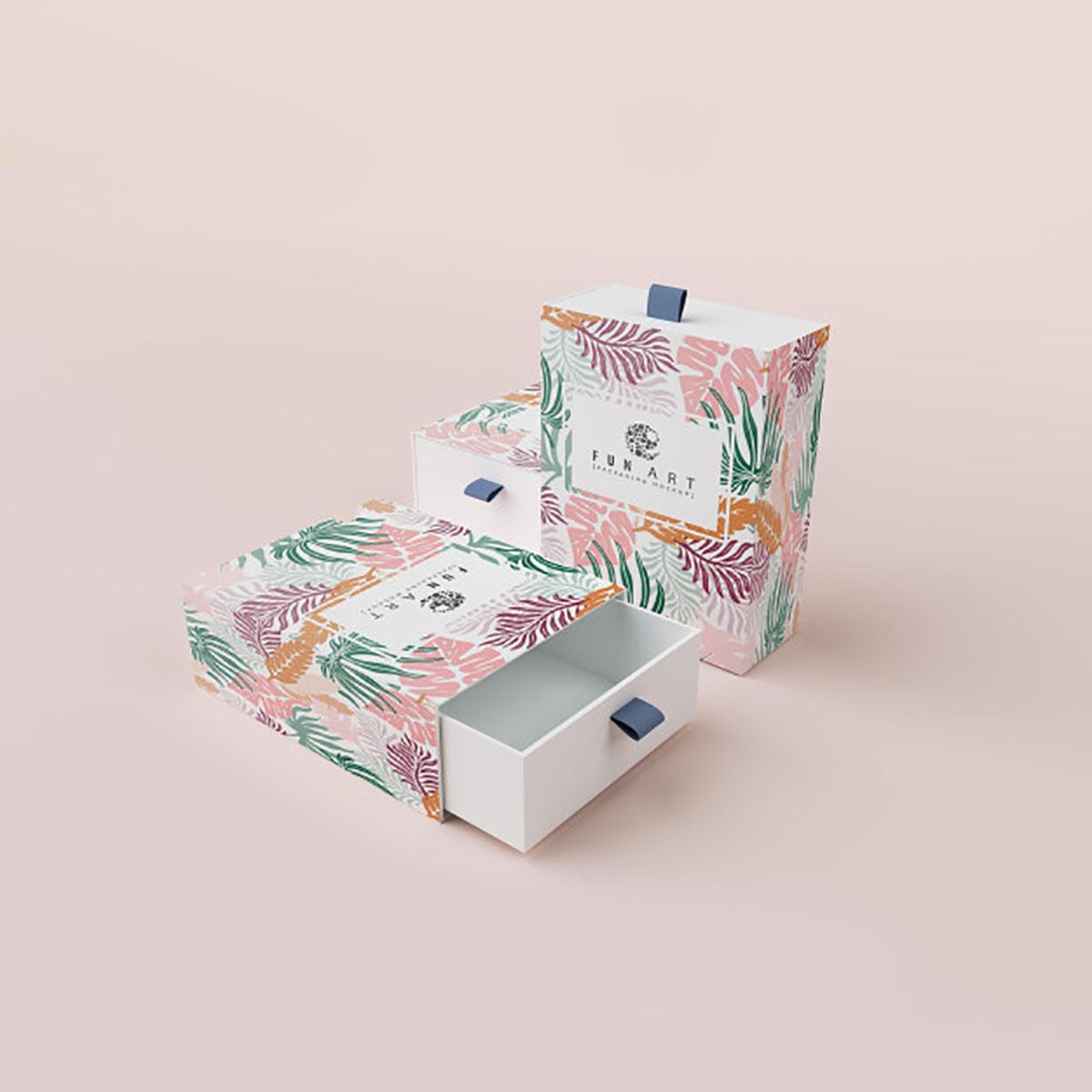 Custom printed drawer box
