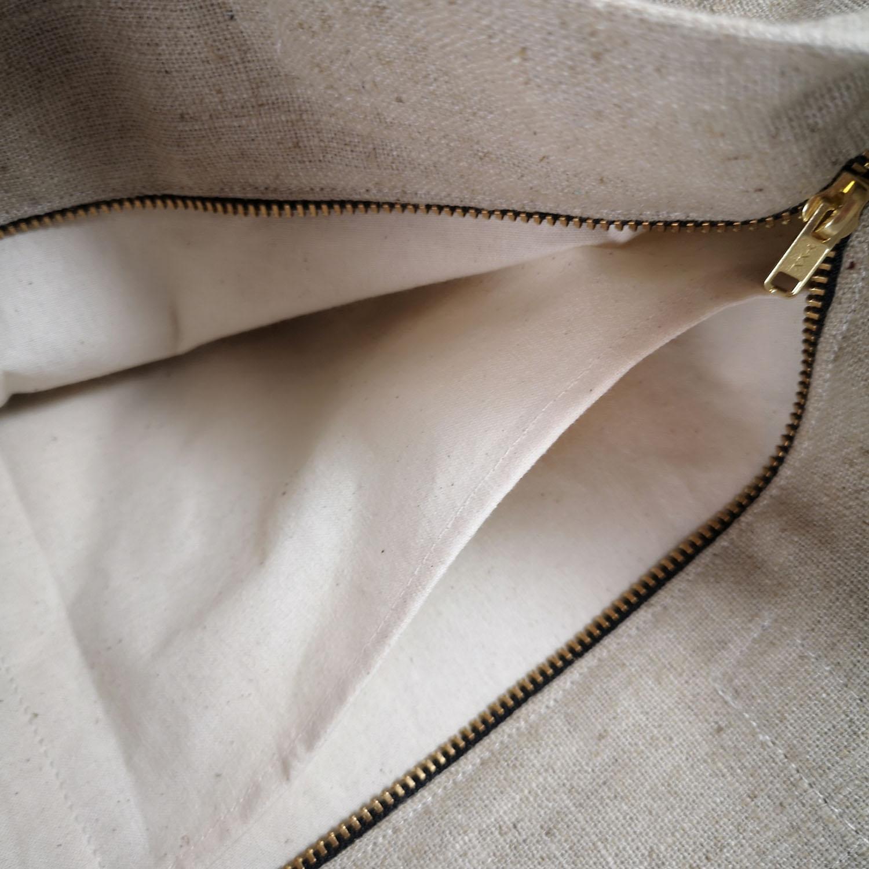 khaki hemp bag