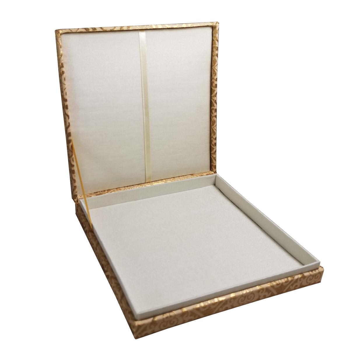 interior look of brocade silk box